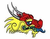 Cabeça de dragão vermelha