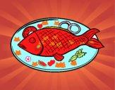 Placa de peixes