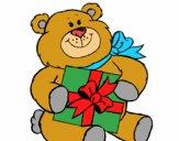 Urso com presente