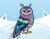 Desenho Coruja do inverno pintado por ImShampoo