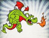 Desenho Dragão do mal pintado por ckirito