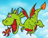 Desenho Dragão que cospe fogo pintado por ckirito