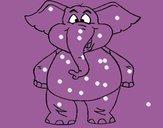 Desenho Elefante contente pintado por 1berto