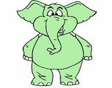 Elefante contente
