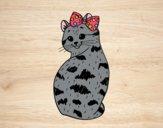 Desenho gatinha presumida pintado por ImShampoo