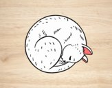 Desenho Gatinho repousando pintado por ImShampoo
