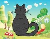 Desenho Gato de volta pintado por ImShampoo