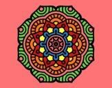 Desenho Mandala flor conceitual pintado por IsabelDiva