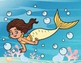 Desenho Sireia do mar pintado por farylu