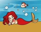 Desenho Sirene bonita pintado por farylu