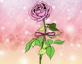 Desenho Uma rosa pintado por luzinda