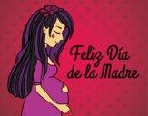 Desenho Mamã grávida no Dia da Mãe pintado por yasmimramo