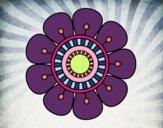 Desenho Mandala em forma de flor pintado por VanessaSou