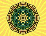 Desenho Mandala para relaxamento mental pintado por yasmimramo