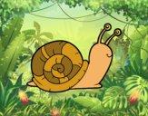 Desenho O caracol pintado por ImShampoo