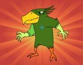 Desenho Pássaro monstro maligno pintado por Clone