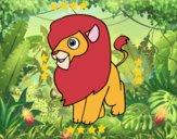 Um leão