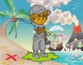 criança pescador