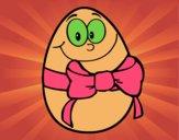 Ovo de páscoa com laço