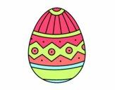 Desenho Ovo de páscoa estampagem pintado por ritadias