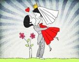 Desenho Você pode beijar a noiva asa pintado por josianne