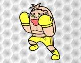 Boxeador defendendo