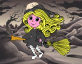 Bruxa com escoba