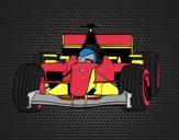 Desenho Carro de F1 pintado por JCalsolari