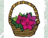 Desenho Cesta de flores 2 pintado por Gisla