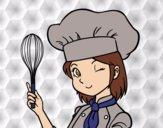 Desenho Cozinheira pintado por Gisla