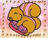 Esquilo pianista