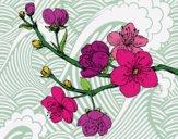 Desenho Filial da cereja pintado por Gisla