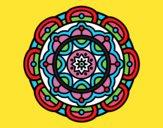 Desenho Mandala para relaxamento mental pintado por carmasiana