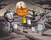 Desenho Monstros doce ou travessura pintado por Lile