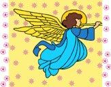 Anjo com grandes asas