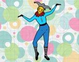 Desenho Arlequim pintado por Silma
