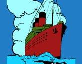 Desenho Barco a vapor pintado por ROSE123