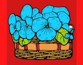 Desenho Cesta de flores 12 pintado por carmasiana