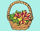 Desenho Cesta de flores 2 pintado por carmasiana