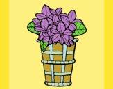 Desenho Cesta de flores 3 pintado por carmasiana