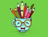Desenho Copo animado com lápis pintado por Jujuli