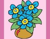 Desenho Jarro de flores pintado por carmasiana