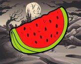 O pedaço de melancia