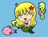 Pequena sereia e seus amigos