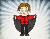 Desenho Pequeno vampiro pintado por Layssa