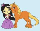 Desenho Princesa e unicórnio pintado por Clarice1