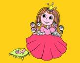 Desenho Princesa sapatinho de cristal pintado por Clarice1