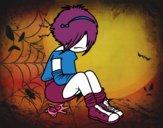 Desenho Rapariga Emo pintado por ROSE123