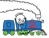 Trem com maquinista