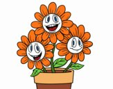 Desenho Vaso de flores pintado por Silma